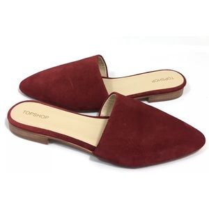 Topsho Slide Mules/ Flats Suede Leather